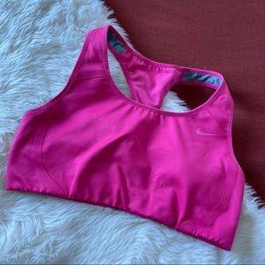 Nike dri-fit pink sports bra sz.M